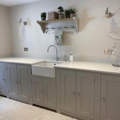 A calm and organised utility room is a game-changer. This timeless design by @aberfordinteriors (on Instagram) offers a single run of @neptunehome cabinets, which hides the laundry appliances while also offering valuable storage space. The addition of a large sink with our Phoenician mixer and rinse is perfect for hand washing, arranging flowers and cleaning muddy shoes #perrinandrowe #neptunehomes #thoughtfuldesign #calminteriors #designinspo #homedetails #utilityrooms #laundryroom #countryhome Utility Room Inspiration, Laundry Appliances, Phoenician, Game Changer, Hand Washing, Timeless Design, Laundry Room, Mixer