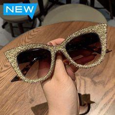 Sparkly Cat Eye Sunglasses- Helen Retro Sunglasses, Oversized Sunglasses, Sunglasses Women, Women's Sunglasses, Sunglasses Online, Sunnies, Vintage Cat, Cat Eye Frames, Cat Eye Glasses