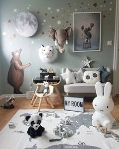 Modern lighting ideas: The ideal light for a children's room! – Benjamin Shutter – The Effective Pictures We Offer You About baby room rustic A … Baby Bedroom, Baby Boy Rooms, Baby Boy Nurseries, Nursery Room, Kids Bedroom, Room Baby, Themed Nursery, Animal Theme Nursery, Nursery Murals