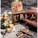 Rózsás öröknaptár (kocka naptár), Otthon, lakberendezés, Dekoráció, Festett tárgyak, Decoupage, szalvétatechnika, Meska