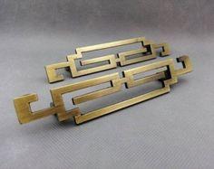 "5.6""Pair of Chinese style antique symmetry pulls knobs/Drawer Handles/Antique Brass Kitchen Cabinet Pull Handles/Door handle/dresser drawer"