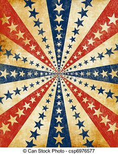 An Americana Style Starburst With A Grunge Effect