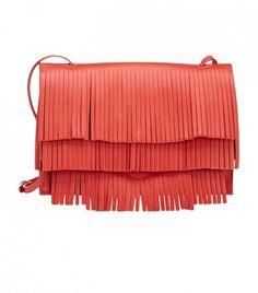 Proenza Schouler Fringe Small Lunch Bag // Bright red fringe bag