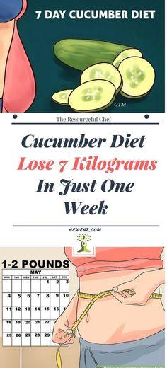 Remedies To Lose Weight Cucumber Diet – Lose 7 Kilograms In Just One Week Healthy Diet Tips, Healthy Drinks, Healthy Nutrition, Healthy Fruits, Lose Weight Naturally, How To Lose Weight Fast, Loose Weight, Cucumber Canning, Cucumber Juice