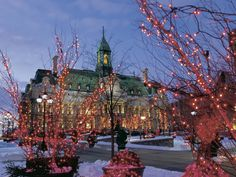 Montreal Christmas events, activities, attractions, and shopping options are plentiful. These holiday events are the top draws in Montreal, Canada. Quebec City Christmas, Prague Christmas, Canada Christmas, Christmas Events, Christmas Lights, Christmas Decorations, Cozy Christmas, Christmas Carol, Christmas Traditions