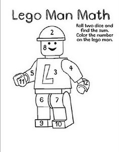 Free!!! Roll and color, my students will love this Lego Man! - Re-pinned by @PediaStaff – Please Visit http://ht.ly/63sNt for all our pediatric therapy pins