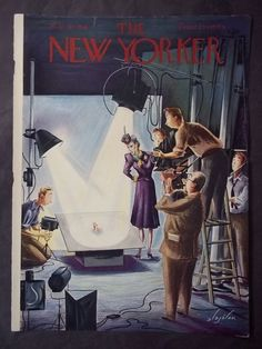 Vintage New Yorker Magazine (COVER ONLY) May 10 1941 Constantin Alajalov cover