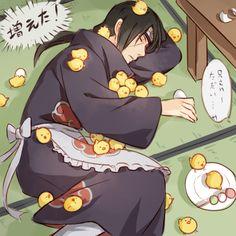 Itachi Uchiha...... Are those Gilbirds