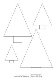 Simple Christmas Tree Template