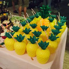 Planning my sister's destination Tropical Pineapple 50th Birthday Party in Puerto Rico. Click or visit FabEveryday.com for more pics and planning details to inspire your milestone birthday party, destination wedding, bachelorette party, or shower. Pineapples, palm trees, flamingoes, oh my!