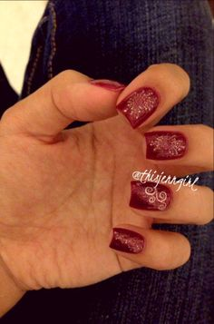 Red Fourth of July/Independence Day-inspired nails featuring Shany stamps   Red Flare by Orly   Burgundy by Love & Beauty
