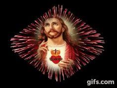 Jesus is saviour Pictures Of Jesus Christ, Religious Pictures, Heart Of Jesus, God Jesus, Jesus E Maria, Animated Gifs, Jesus Face, Mary And Jesus, Divine Mercy