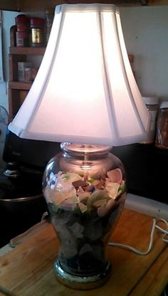 Maine made sea glass filled lamp! https://www.etsy.com/listing/180572547/maine-made-sea-glass-filled-lamp