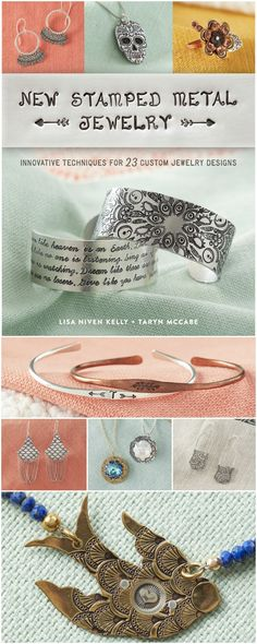 Lisa Niven Kelly and Taryn McCabe wrote a NEW book, New Stamped Metal Jewelry. You can pre-order it today and receive a signed copy with free domestic shipping at www.beaducation.com!