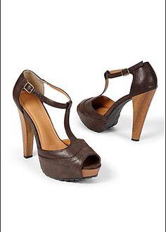 T-Strap platform heel