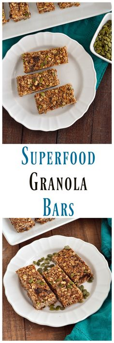 No Bake Super Food Granola Bars