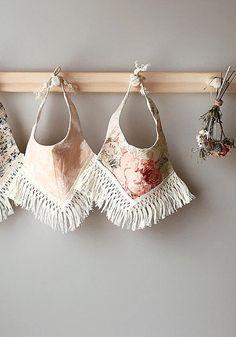 Handmade Fringed Boho Baby Bibs | ArrowandMuse on Etsy