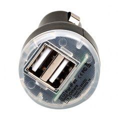 Dual USB 2.1 Amp Car Charger - Black