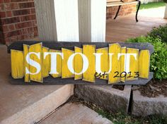 Personalized Family Name Sign on a rustic random wood canvas