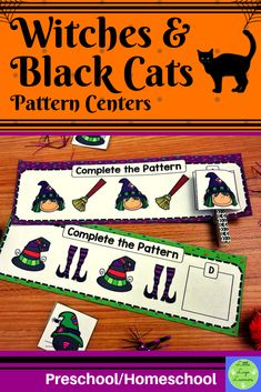 Do you have children in your class who are at different stages of learning? Are you teaching one theme that you want all of your kids to have access to with patterns? This Witches Numbers Preschool, Preschool Activities, Number Activities, Morning Activities, Reading Activities, Halloween Math, Halloween Witches, Cat Activity, Dramatic Play