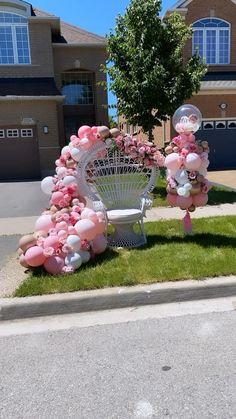 Birthday Balloon Decorations, Baby Shower Decorations For Boys, Birthday Balloons, Baby Shower Themes, Birthday Crowns, Unicorn Baby Shower, Baby Boy Shower, Baby Party, Baby Shower Parties
