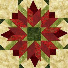 "Seasonal Quilt Blocks 12X12 | Bursting Buds 18"" Seasonal Block. Four different colorways. An ..."