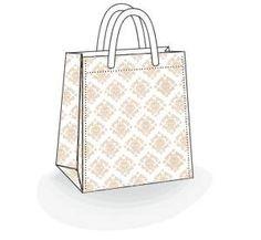Türkiye'de ilk bez çantalar hazır desenlerde satışta. Perakende satış için bez çanta kullanmak çok kolay.