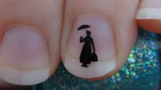 Just went bananas and bought eight different designs! They are BRILLIANT! :D - Mary Poppins Nail Art Decals Logo Set of 20 Vinyl by thefogshoppe, $1.99