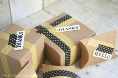 The Crafted Sparrow: Washi Tape Packages