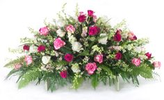 Large Pink and White Rose Casket Spray