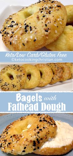 Bagels with Fathead Dough - Keto, Low Carb amp; Gluten Free Bagels with Fathead Dough - Keto, Low Carb amp; Keto Bagels, Low Carb Bagels, Low Carb Bread, Keto Bread, Low Carb Diet, Low Carb Crackers, Low Carb Pancakes, Desserts Keto, Keto Snacks