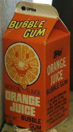 Remember getting Orange Juice Bubble Gum whenever we went to Toys R Us at the mall. 1980s Childhood, My Childhood Memories, Sweet Memories, School Memories, Lisa Frank, Old School Candy, Kitsch, 80s Kids, Ol Days