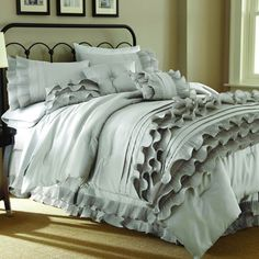 Anastacia Pearl 8-piece Comforter Set | Overstock.com Shopping - Great Deals on Bed-in-a-Bag