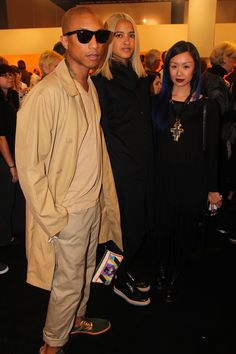 Pharrell in fifty shades of beige...by Jessie Askinazi