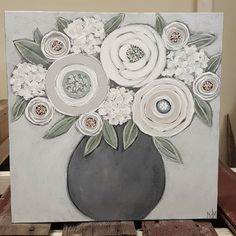 Painting for bathroom Summer Painting, Diy Painting, Acrilic Paintings, Floral Paintings, Kunst Poster, Canvas Designs, Diy Canvas Art, Beginner Painting, Small Art