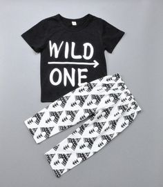 Wild One Outfit for Baby, Toddler, Boys, Clothing Set, Fall Clothing, Teepee…