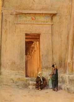 Doorway in the temple of Isis, Egypt