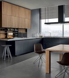 Cherry wood Kitchen With Gray is part of Kitchen fittings - Welcome to Office Furniture, in this moment I'm going to teach you about Cherry wood Kitchen With Gray Kitchen Dinning, New Kitchen, Kitchen Decor, Kitchen Black, Black Kitchens, Home Kitchens, Fitted Kitchens, Wooden Kitchens, Sweet Home