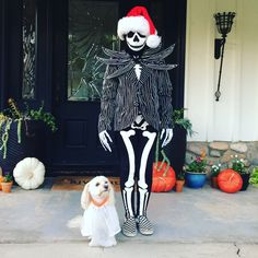 Jack Skellington and his dog Zero