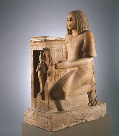 Kneeling Statue of Yuny Period: New Kingdom, Ramesside Dynasty: Dynasty 19 Reign: reign of Seti I Date: ca. 1294–1279 B.C. Geography: From Egypt, Middle Egypt, Asyut (Assiut, Siut; Lykopolis), Tomb of Amenhotep, Necropolis Cliff tomb, Medjdeni, Khashaba excavations, 1913