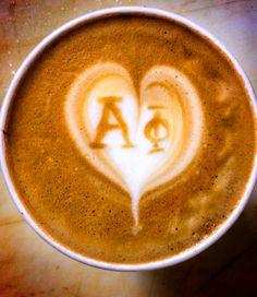 Alpha phi latte art by @Patrick Shearer