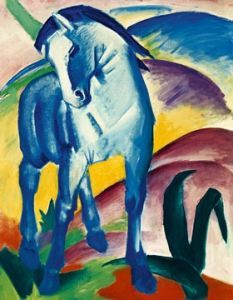 Blaues Pferd I  by Franz Marc Franz Marc, Painted Horses, Blue Rider, Painting Prints, Art Prints, Painting Art, Blue Horse, Ouvrages D'art, Oil Painting Reproductions