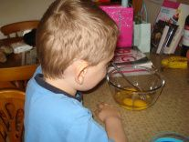 Baking with my son - Oaty Banana Muffins