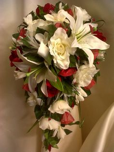 Gorgeous Brides Wedding Bouquet Red and by WeddingFlowerLadyUK, $120.00