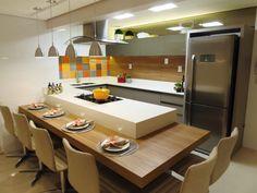 Busca imágenes de diseños de Cocinas estilo moderno de Marina Turnes Arquitetura & Interiores. Encuentra las mejores fotos para inspirarte y crear el hogar de tus sueños.