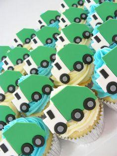 Garbage Truck Cupcakes