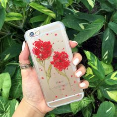 Pressed Red Wildflowers Phone Case