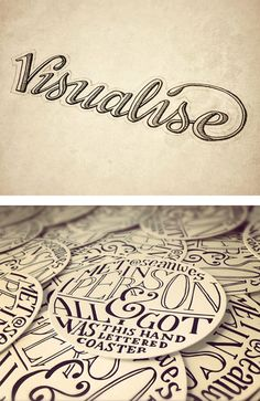 Type Junkie, type-lovers: Hand Lettering by Sean McCabe Cool Typography, Creative Lettering, Graphic Design Typography, Lettering Design, Typography Drawing, Calligraphy Letters, Typography Letters, Sean Mccabe, Pattern Texture