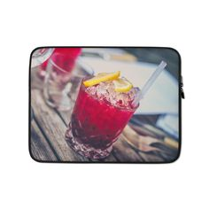 This lightweight, form-fitting Alcohol 1853327 Laptop Sleeve is a must-have for any laptop owner on the go. Hat Embroidery Machine, Advance Payment, Laptop Case, Order Prints, Laptop Sleeves, Biodegradable Products, Bubbles, Alcohol, Rubbing Alcohol