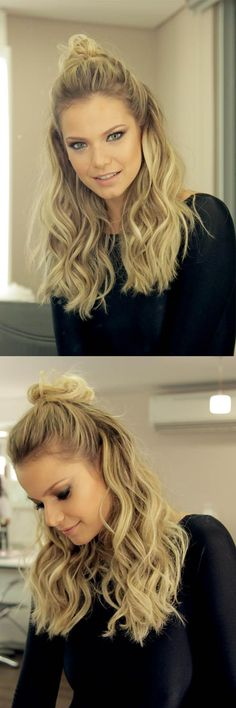 Em vídeo, o passo a passo para o half bun ou meio coque. O penteadoé a tendência perfeita para quem buscaum visual despojado, prático e cheio de estilo.